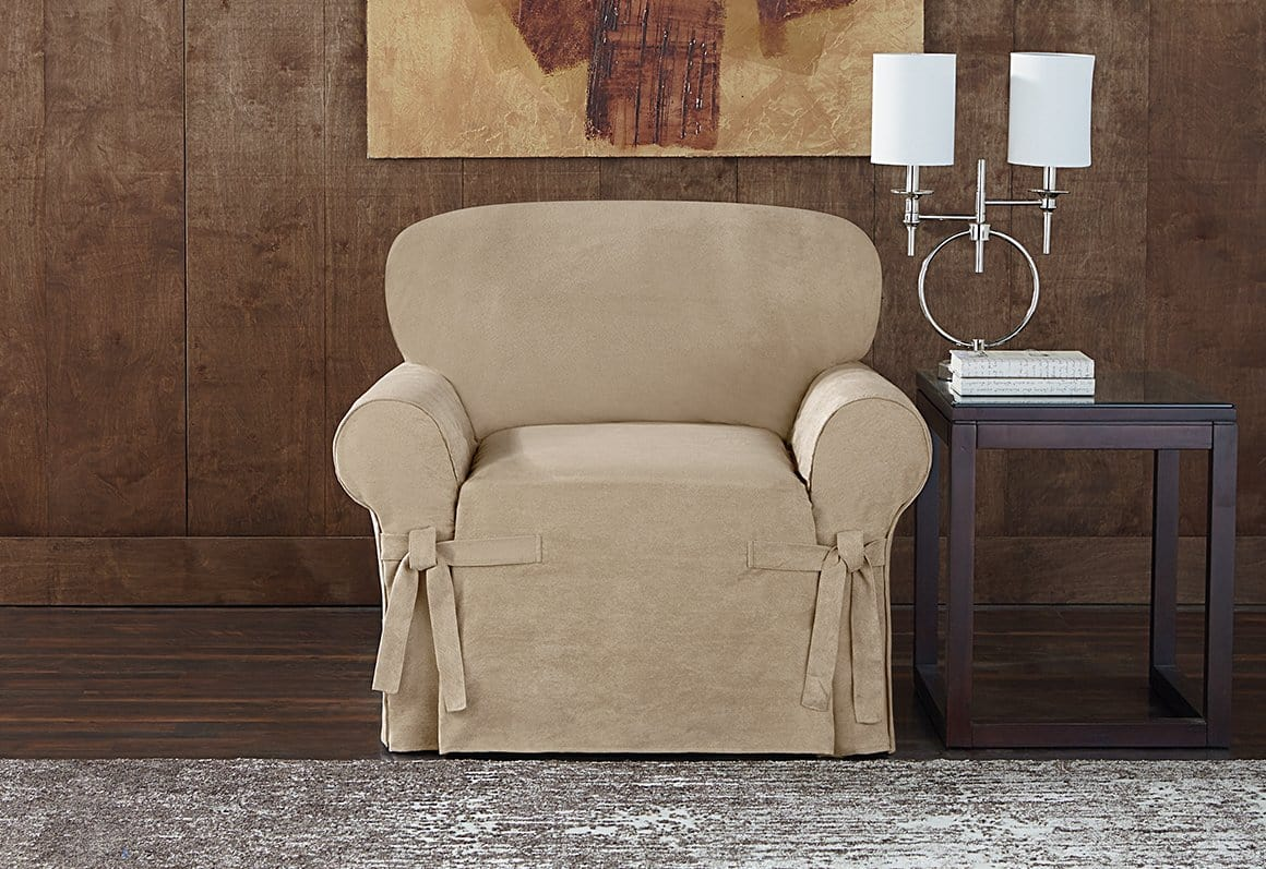 Sueded Twill Slipcover - Chair
