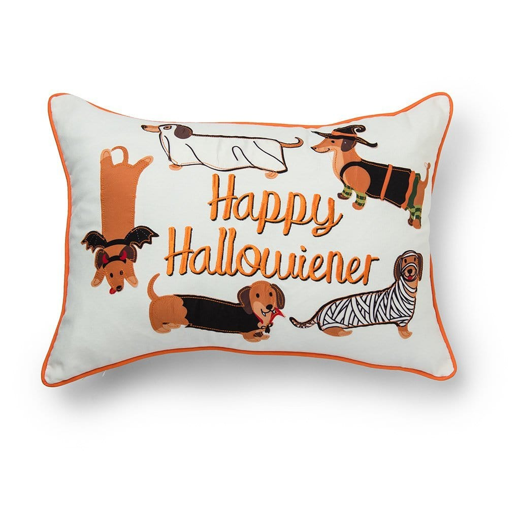 Happy Halloweiner Halloween Decorative Throw Pillow - 14 x 20 / Orange Multi