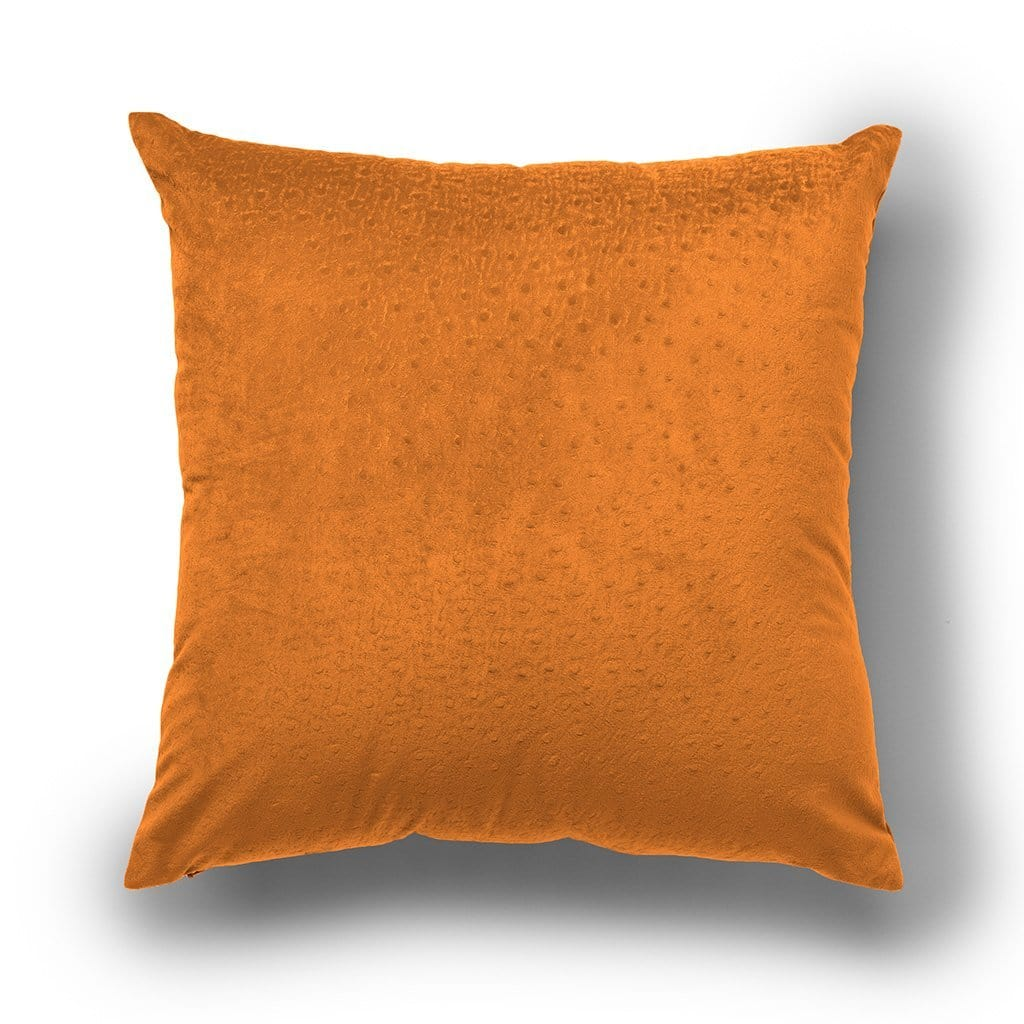 Dot Pattern Halloween 18 Inch Velvet Throw Pillow, Two Pack - 18 x 18 / Orange Pepper