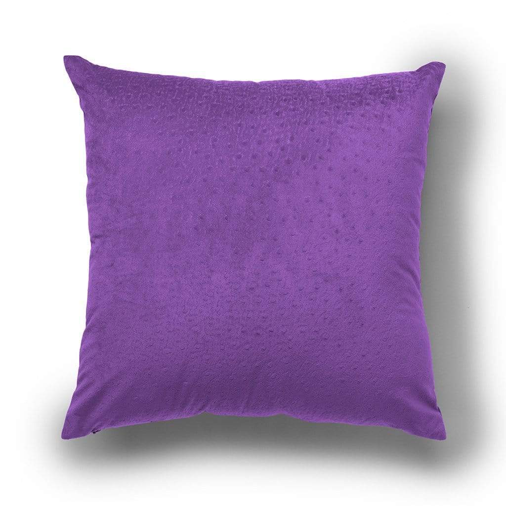 Dot Pattern Halloween 18 Inch Velvet Throw Pillow, Two Pack - 18 x 18 / Amaranth Purple