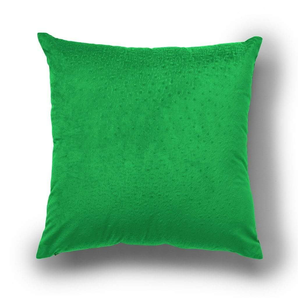 Dot Pattern Halloween 18 Inch Velvet Throw Pillow, Two Pack - 18 x 18 / Poison Green