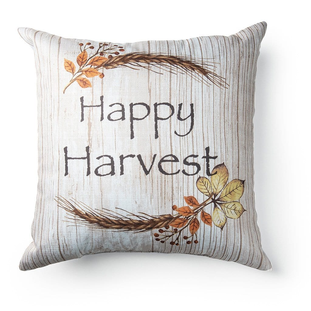 Happy Harvest 18 Inch Decorative Throw Pillow - 18 x 18