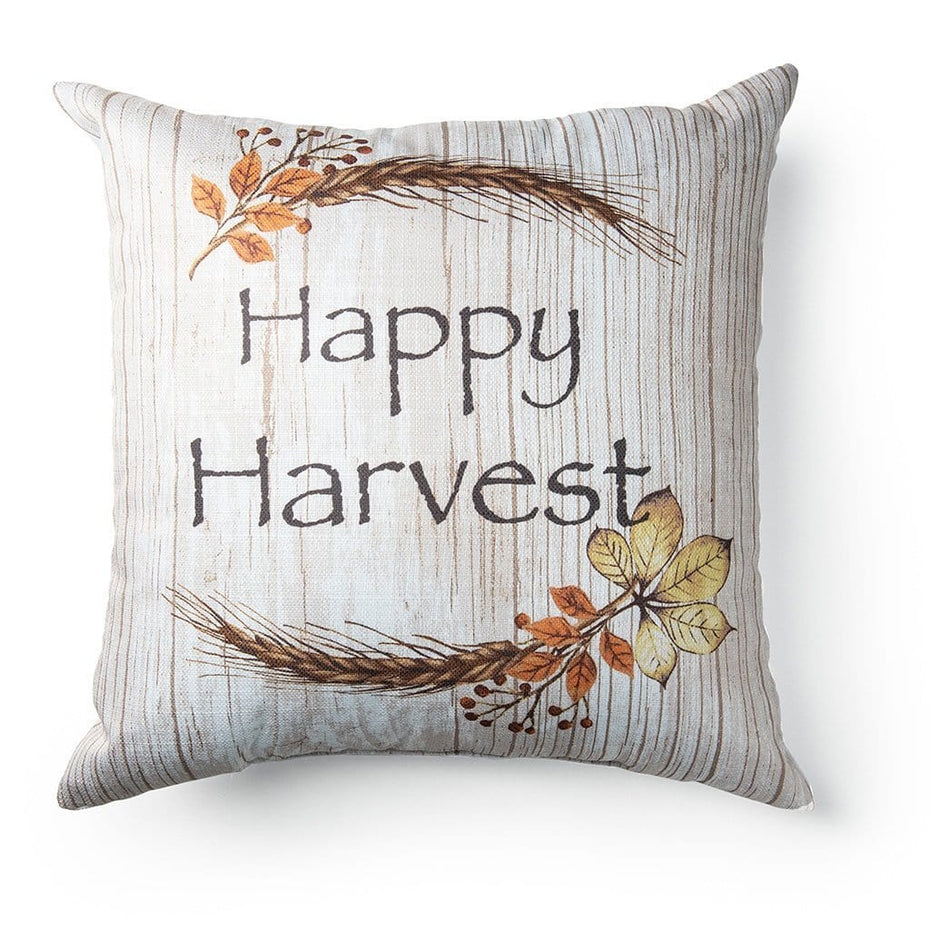 Happy Harvest 18 Inch Decorative Fall Throw Pillow