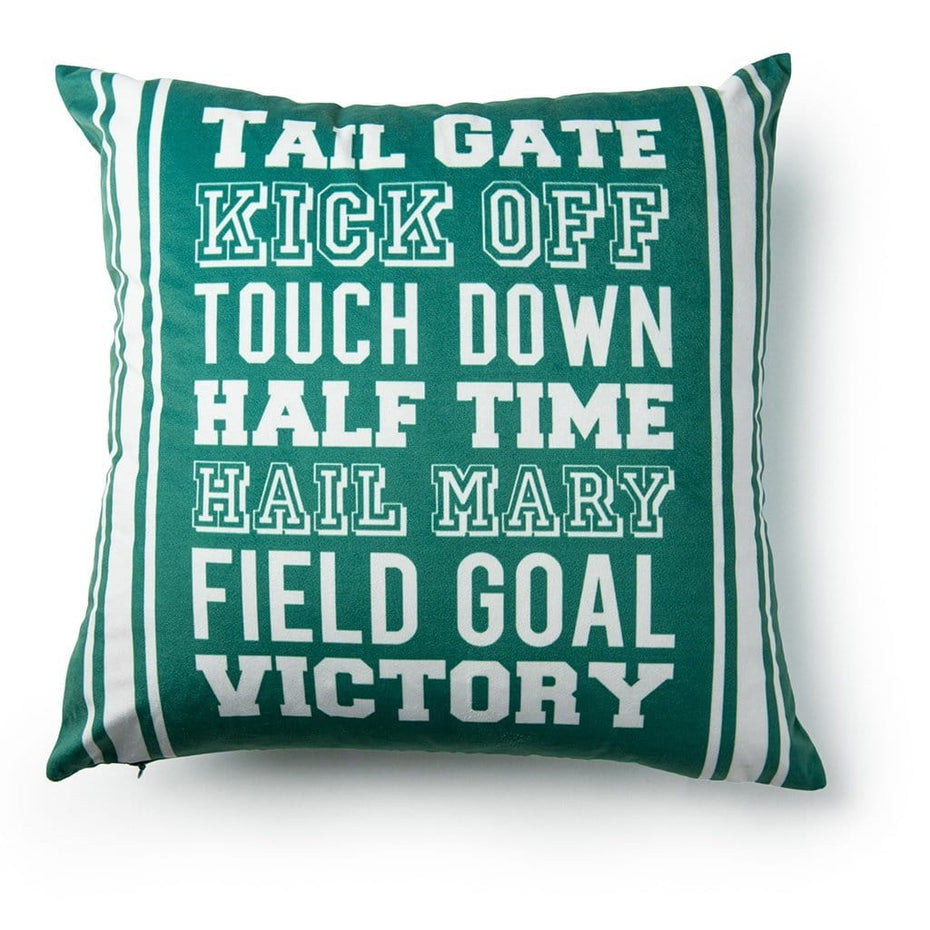 Football Words 18 Inch Decorative Throw Pillow