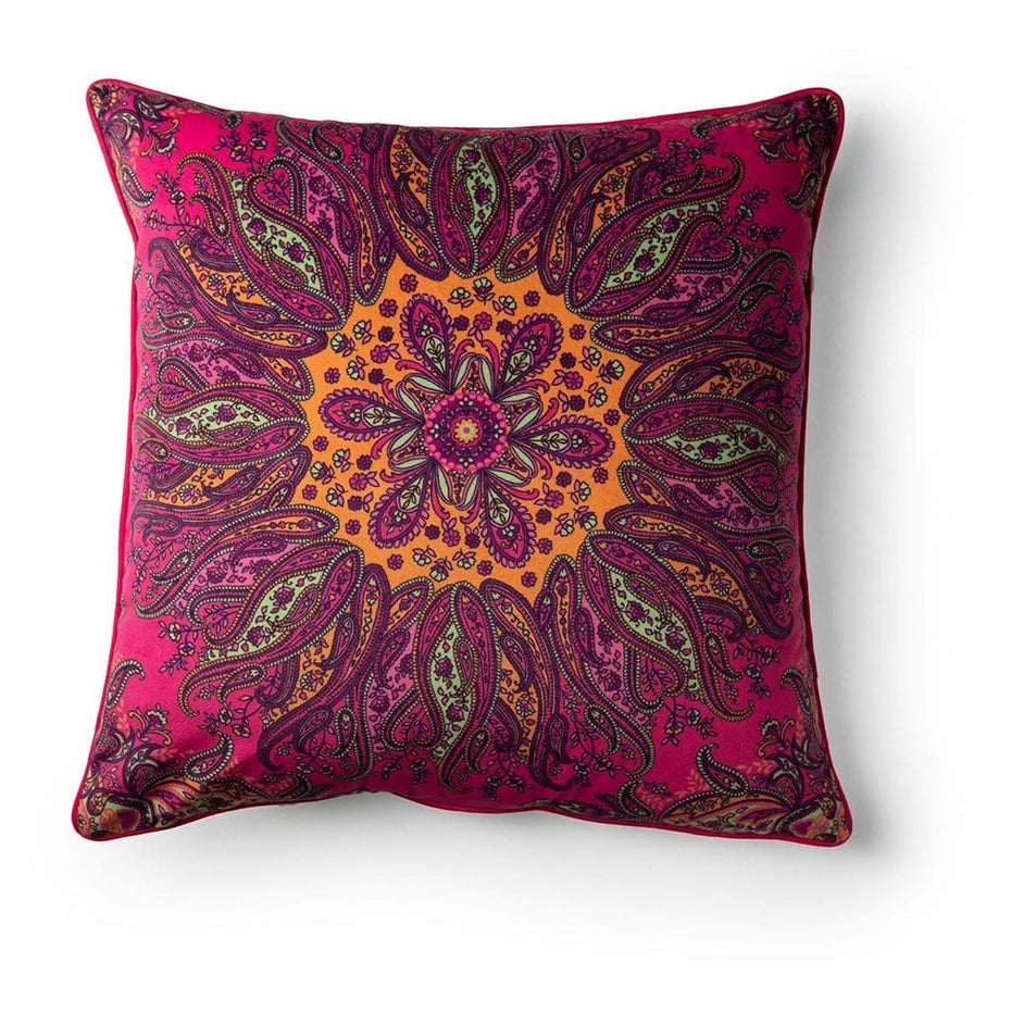 Paisley Mandala Breast Cancer Awareness 18 Inch Throw Pillow Pink