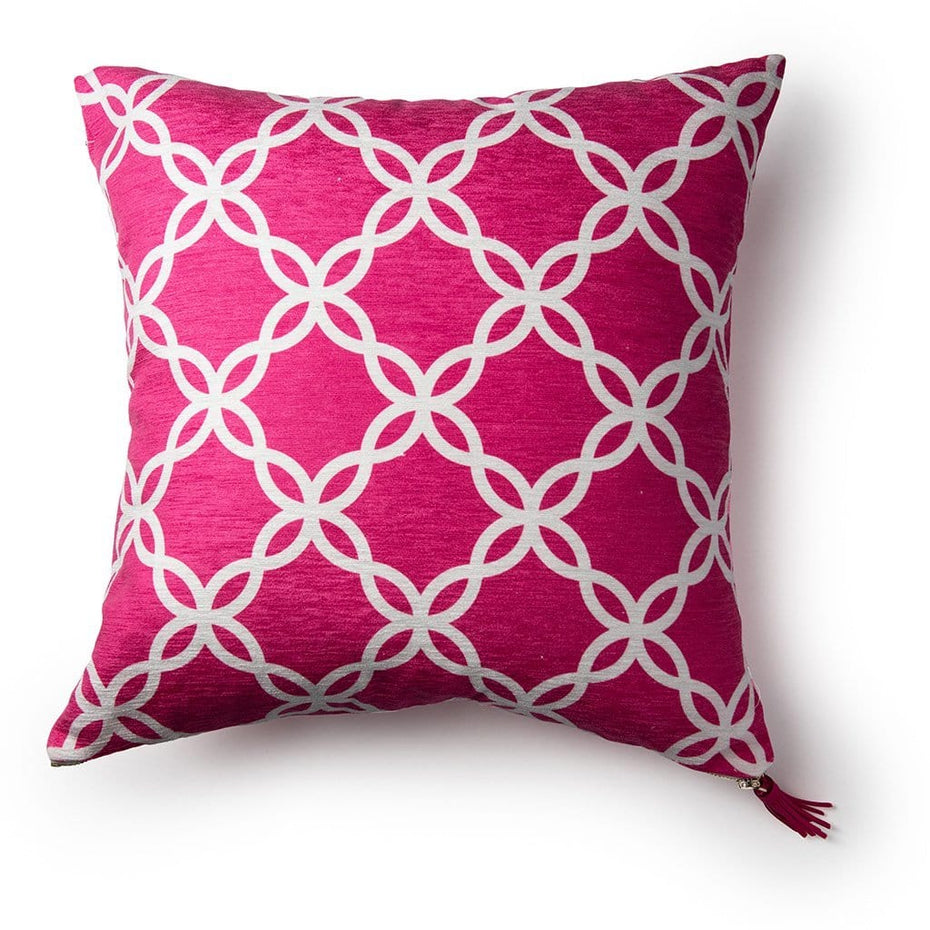 Pink and White Breast Cancer Awareness 18 Inch Throw Pillow