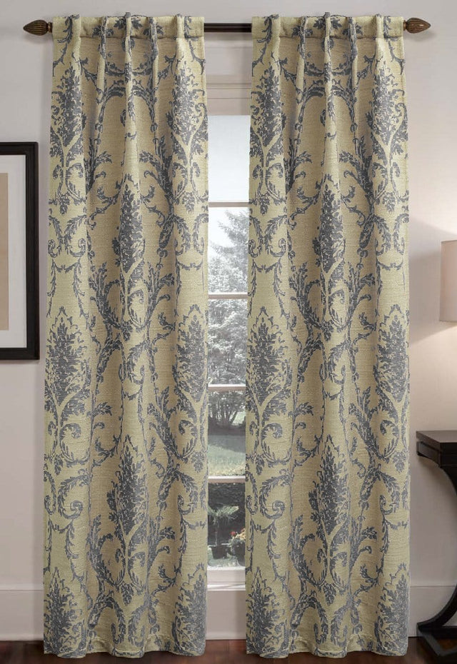 Rondo Damask Window Curtain Panel