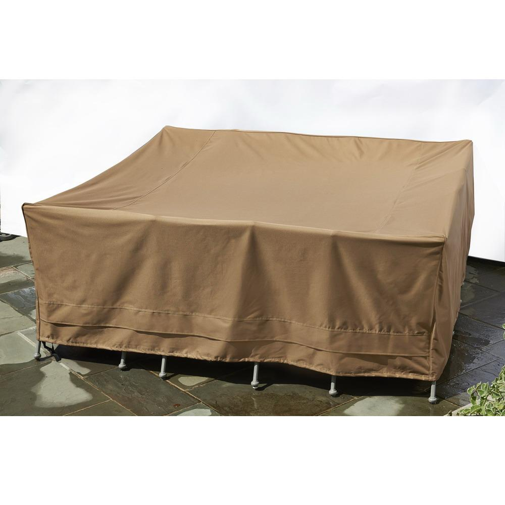 Patio Armor Square Table And Chair Outdoor Furniture Cover - Taupe
