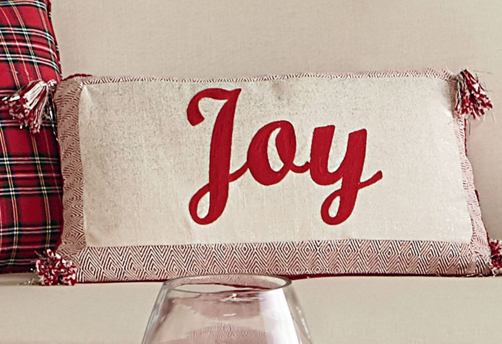 Joy Glitter 14x24 Decorative Pillow Surefit