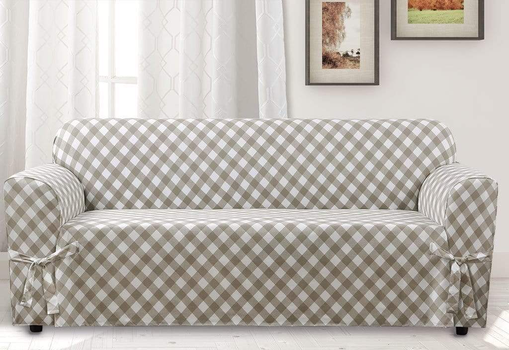 Buffalo Check One Piece Sofa Slipcover | Relaxed Fit | 100% Cotton | Machine Washable