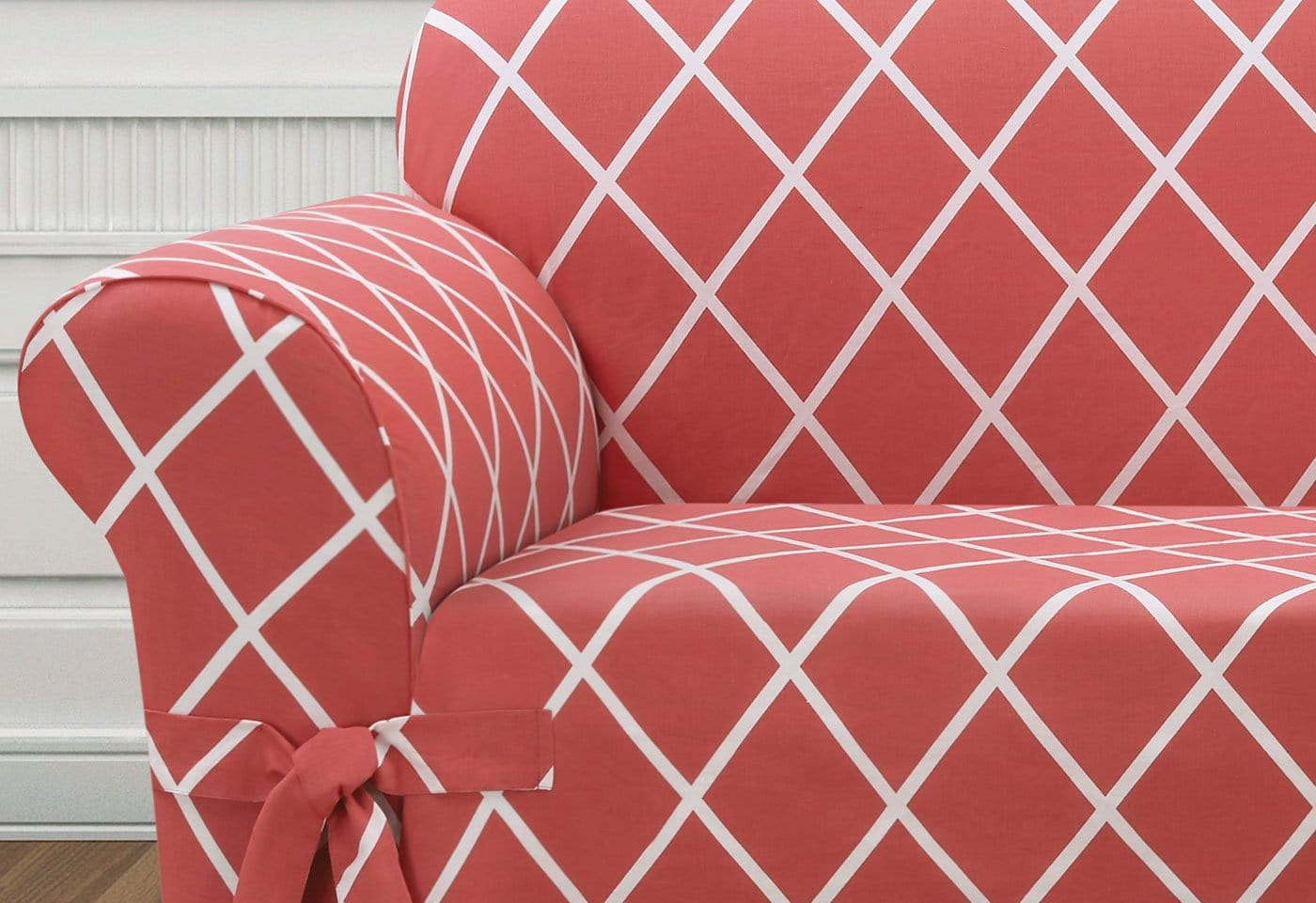 Lattice One Piece Chair Slipcover