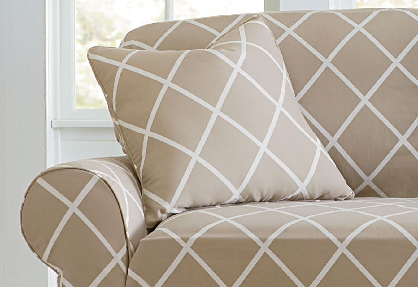 Lattice One Piece Chair Slipcover Pattern Chair Covers