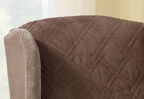 ... Quilted Wing Chair Recliner Pet Throw Furniture Cover ... 9a7f0f789