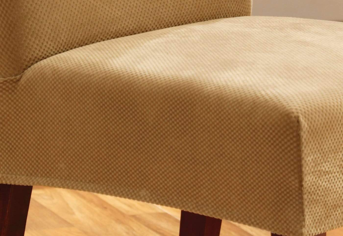 ... Stretch Pique Short Dining Chair Slipcover ...