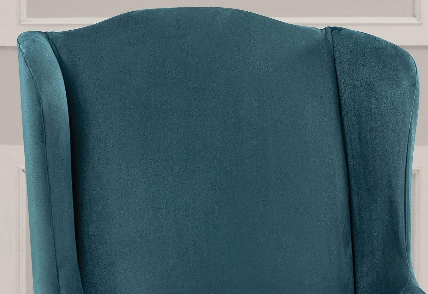 ... Ultimate Heavyweight Stretch Suede One Piece Wing Chair Slipcover ...