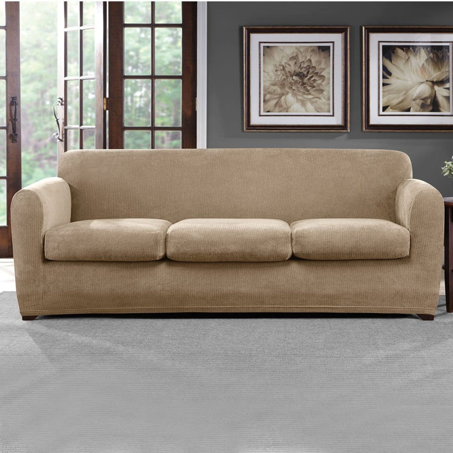 Ultimate Stretch Chenille Four Piece Sofa Slipcover | Form ...