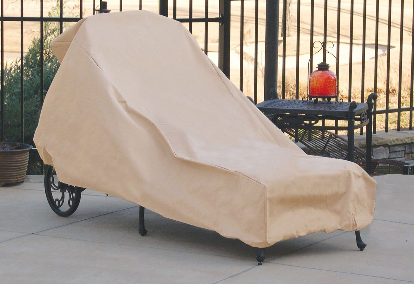 Hearth and Garden Large Lounge Chair Cover - Taupe / Taupe