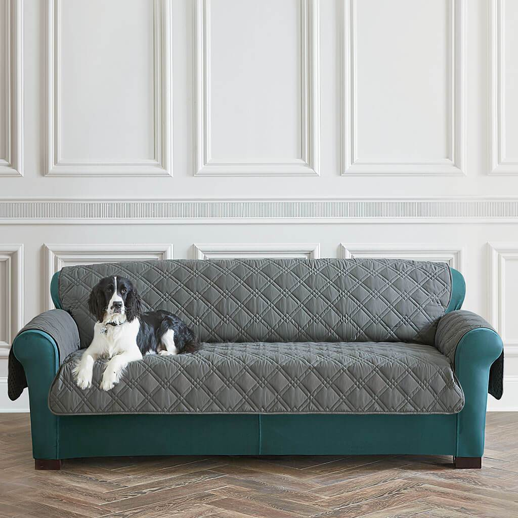 Pet Protector Sofa Furniture Cover 100% Polyester Pet Furniture Cover Machine Washable - Gray