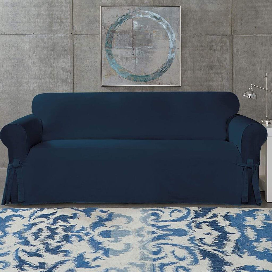 Cotton Duck Sofa Slipcover | Relaxed Fit | 100% Cotton | Machine Washable