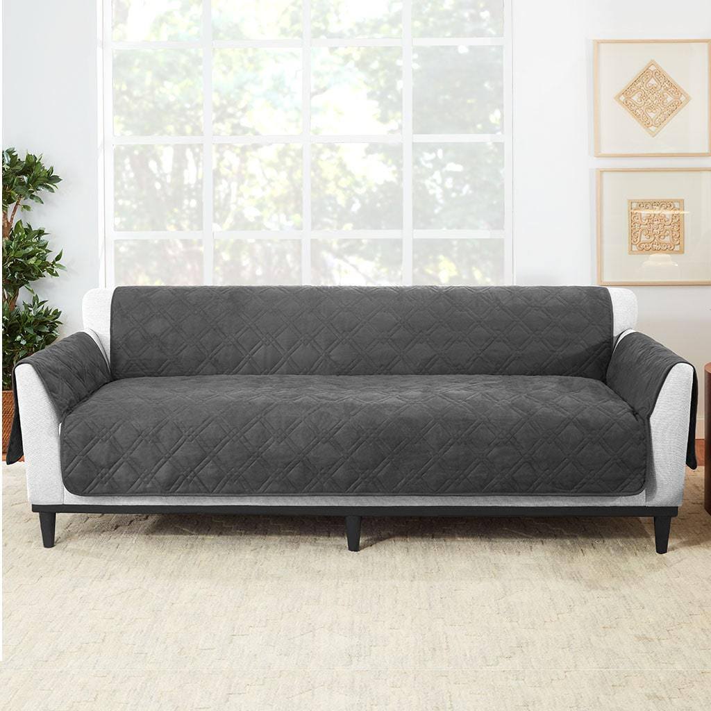 Waterproof Sofa Furniture Cover 100% Polyester Pet Furniture Cover Machine Washable - Gray