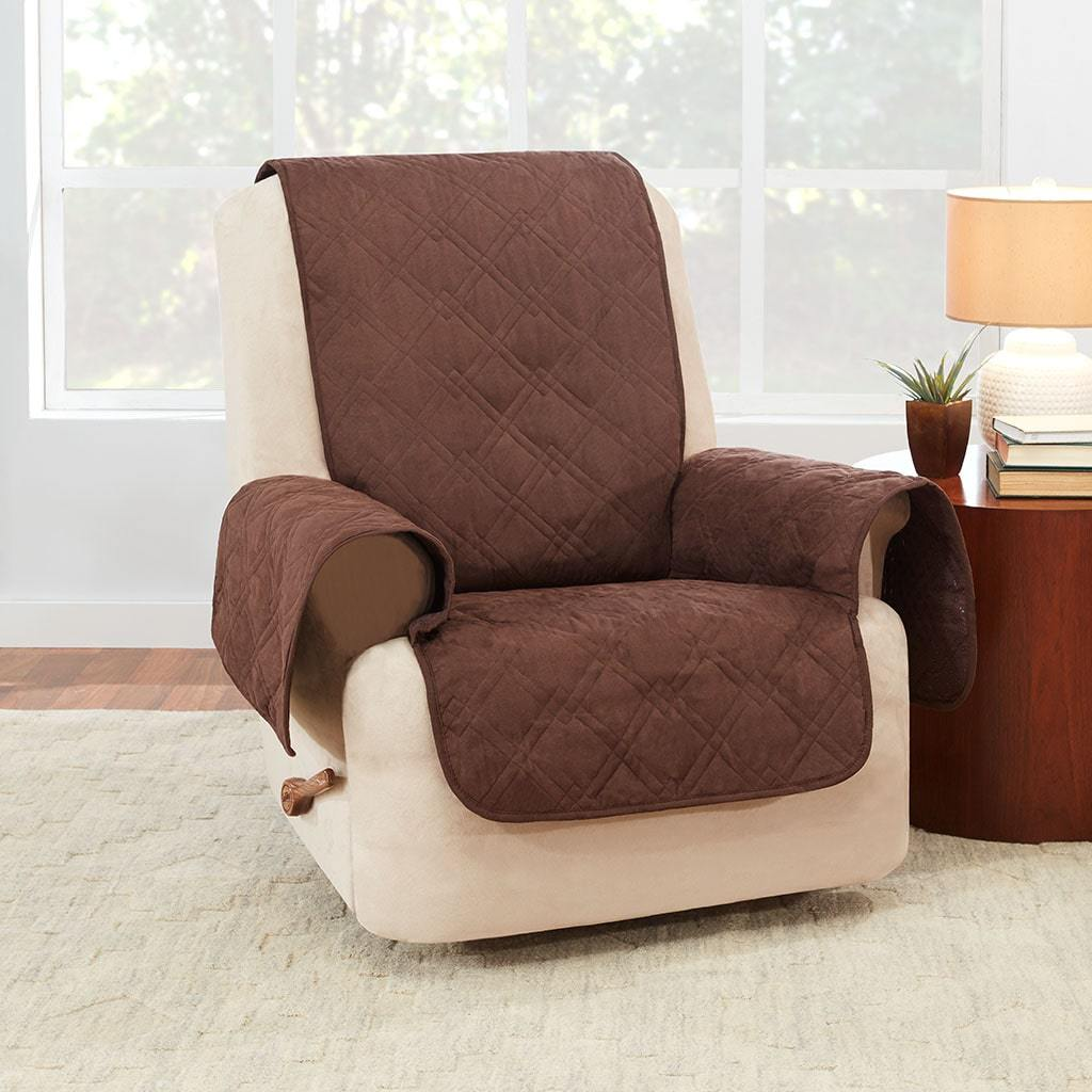 Waterproof Recliner Cover 100% Polyester Pet Furniture Cover Machine Washable - Chocolate