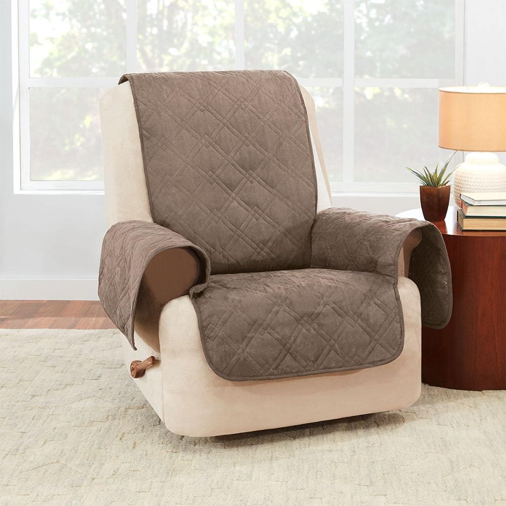 Waterproof Recliner Cover 100% Polyester Pet Furniture Cover Machine Washable - Taupe