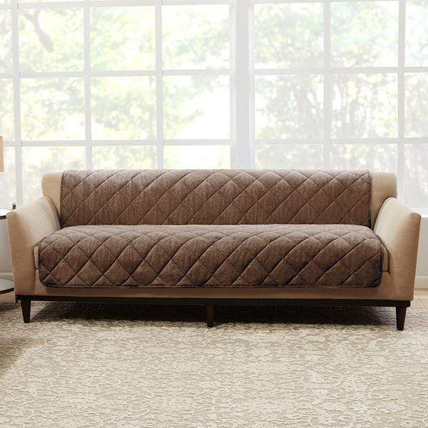 Brushed Linen Sofa Furniture Cover Pet Furniture Cover 100% Polyester Machine Washable - Cocoa