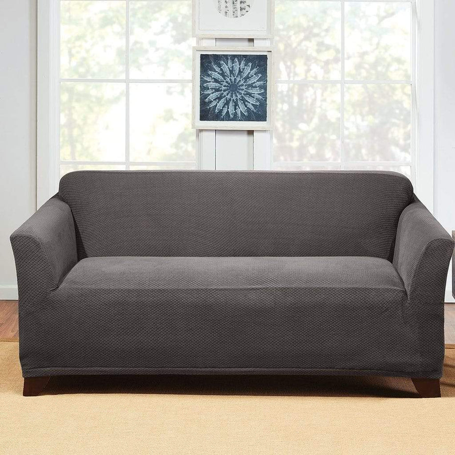 Stretch Hudson Loveseat Slipcover | One Piece | Machine Washable