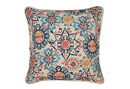 Abigail Print 20 Inch Square Decorative Pillow