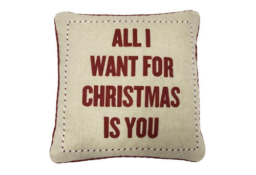 All I Want For Christmas 20 Inch Square Decorative Pillow