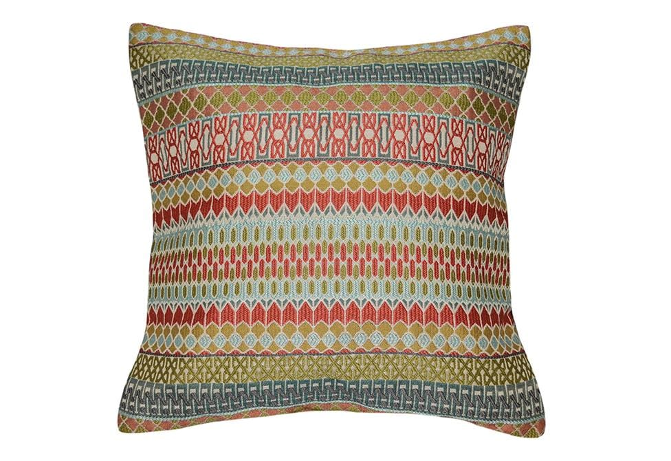Argyle 18 Inch Square Decorative Pillow