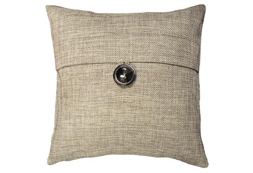 Beaumont Basketweave 18 Inch Square Decorative Pillow