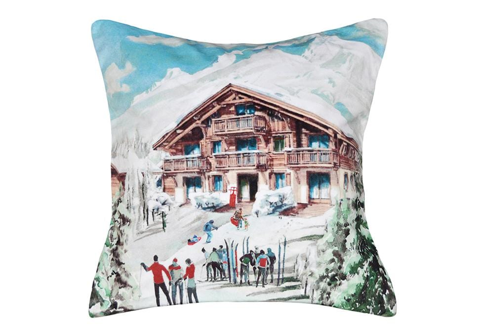 Christmas Lodge 18 Inch Square Decorative Pillow