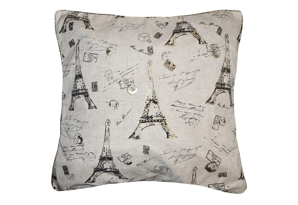 Eiffel Tower 22 Inch Square Decorative Pillow