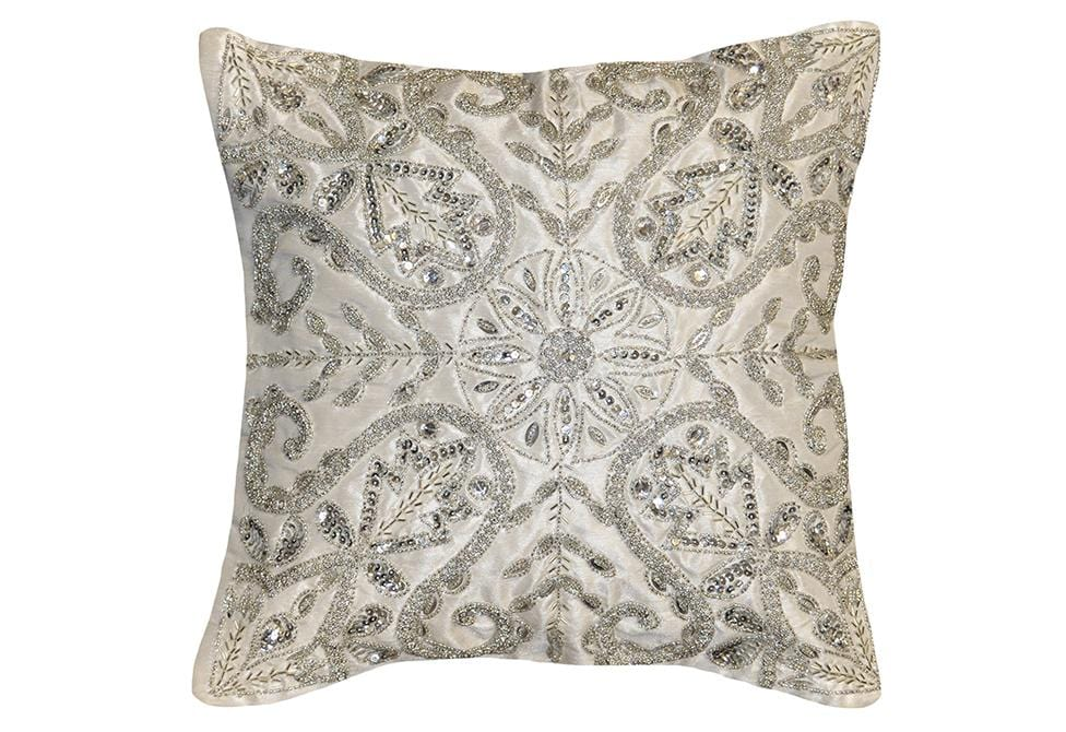 Emma Crystal 16 Inch Square Decorative Pillow