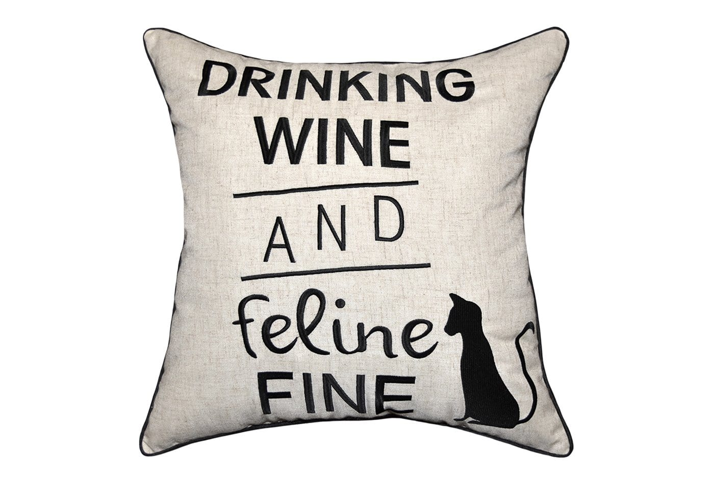 Feline Fine 18 Inch Square Decorative Pillow