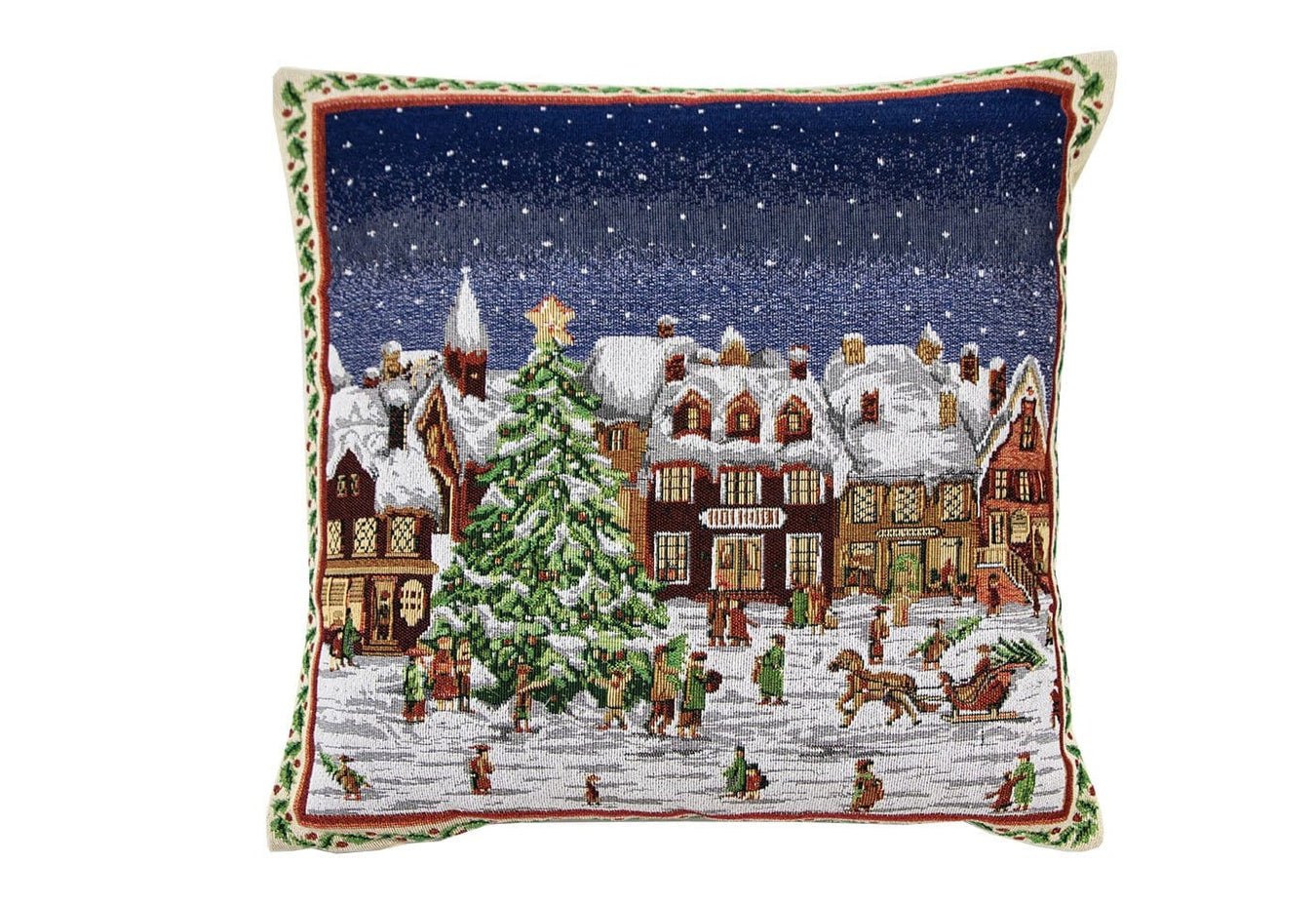 Framed Village 20x20 Decorative Pillow Cover