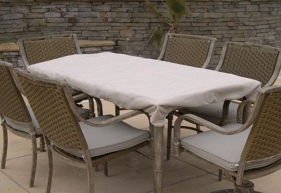 Hearth And Garden Standard Rectangular Table Outdoor Furniture Cover - Taupe