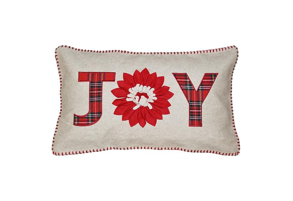 Joy Plaid 14 Inch X 24 Inch Decorative Pillow