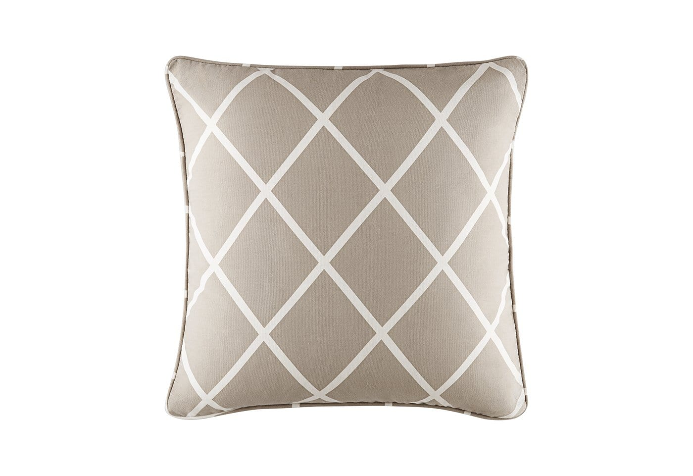 Lattice 18 Inch Square Coordinating Pillow - 18 x 18 / Tan