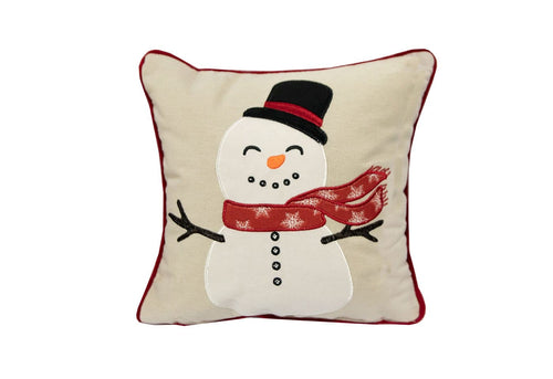 Little Snowman 11x11 Decorative Pillow