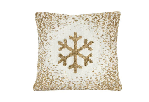 Lux Snowflake 18x18 Decorative Pillow