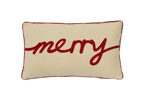 Merry Plaid 12x20 Decorative Pillow