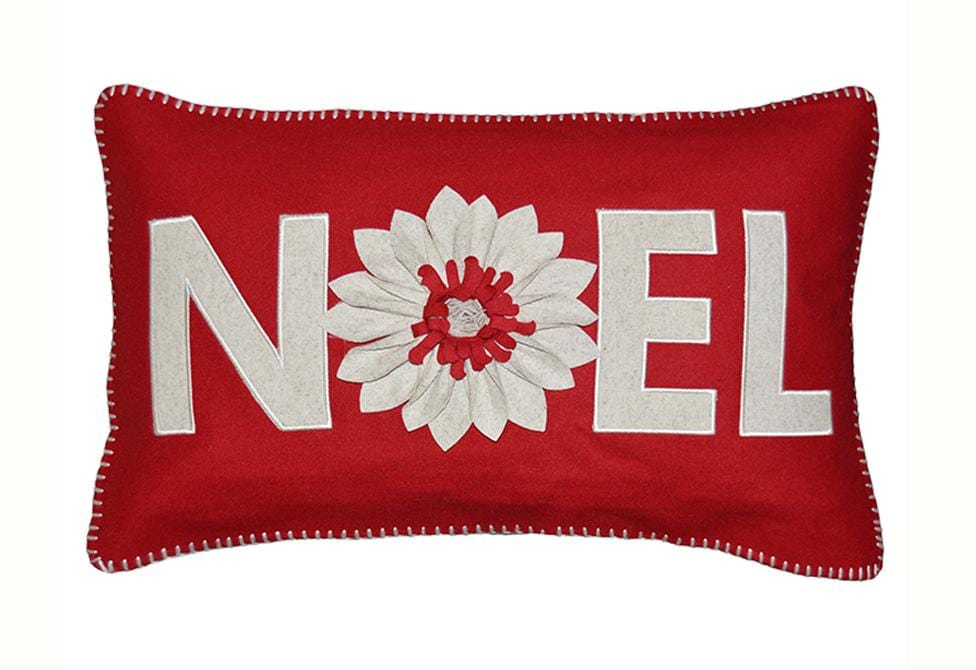 Noel Poinsettia 14 Inch X 24 Inch Decorative Pillow