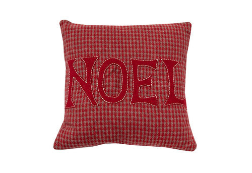 Noel Tweed 18x18 Decorative Pillow