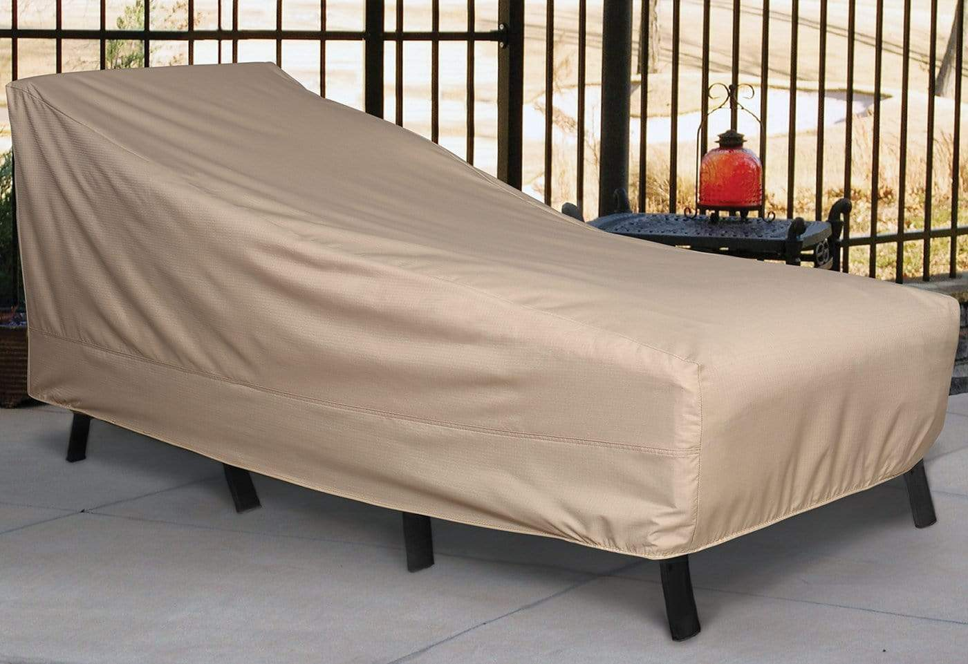 Patio Armor Chaise Lounge Outdoor Furniture Cover - Taupe