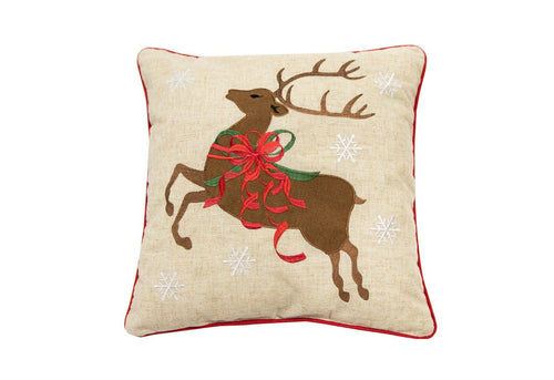 Reindeer Bows 20x20 Decorative Pillow