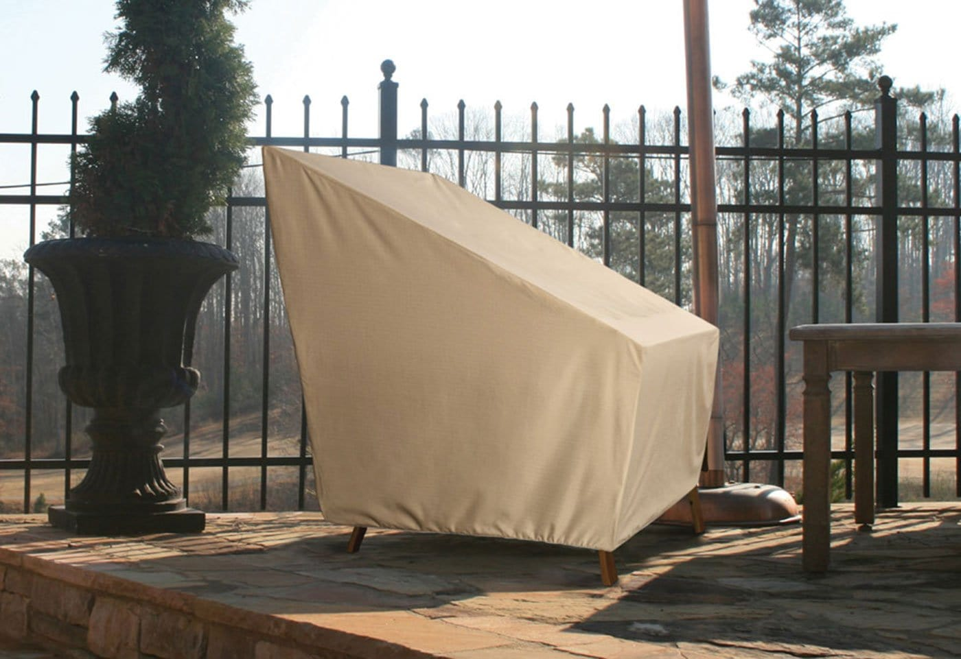 Patio Armor Back Patio Chair Outdoor Furniture Cover - Taupe