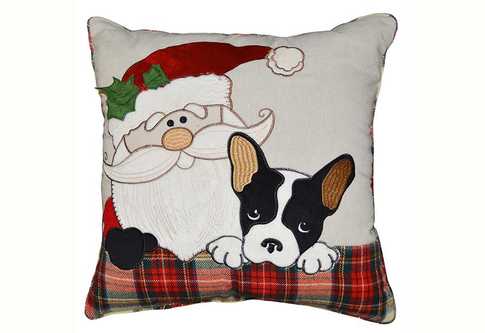 Santa's Helper 20 Inch Square Decorative Pillow