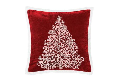 Scroll Shimmer 18 Inch Square Decorative Pillow